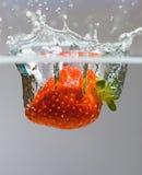 Splash. Strawberry splash Royalty Free Stock Photos