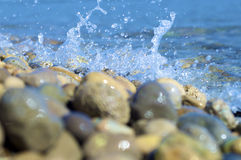 Splash. In the mediterraneam coast Stock Photography