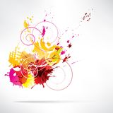 Splash on abstract background Royalty Free Stock Image