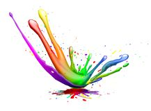 Splash. Abstract illustration of a color explosion or splash Stock Photos