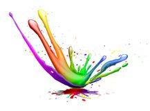 Splash. Abstract illustration of a color explosion or splash stock illustration
