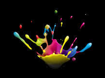 Splash. Abstract illustration of a colorful ink splash Stock Image