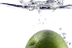 Splash of apple Stock Image
