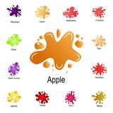 splash of apple juice icon. Detailed set of color splash. Premium graphic design. One of the collection icons for websites, web royalty free illustration
