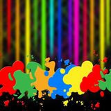 Splash Background Indicates Paint Colors And Splattered Stock Photos