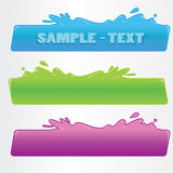 Splash banner. Comic splash banners,cartoon vector Stock Photo