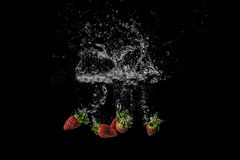 Splash Berries Royalty Free Stock Image