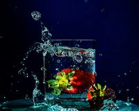 Splash A Big Ole Berry Stock Images