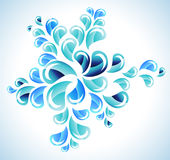 Splash blue background Royalty Free Stock Image
