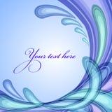 A splash of blue colors Stock Images