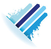 Splash blue line arrow background Stock Photo