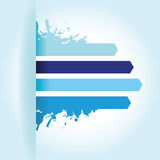 Splash blue line arrow background Stock Photography