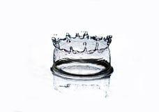 Splash of blue water Royalty Free Stock Image
