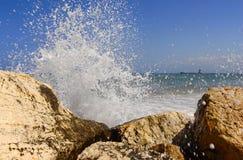 Splash of breaking waves Stock Photo