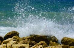 Splash of breaking waves royalty free stock photography