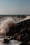 Splash of breaking waves Royalty Free Stock Images