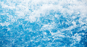 Splash of bright blue water, background texture Royalty Free Stock Photos