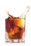 Splash of brown beverage Stock Photo