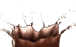 Splash of brownish chocolate Royalty Free Stock Photo