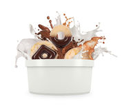 Splash from a bucket Stock Photography