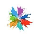 Splash burst color paints Royalty Free Stock Images