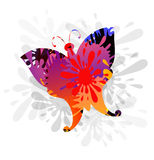 Splash & Butterly-vector. SPLASH & BUTTERFLY IS A VECTOR ILLUSTRATION Stock Images