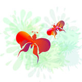 Splash & Butterly-vector Stock Photo