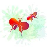 Splash & Butterly-vector. SPLASH & BUTTERFLY IS A VECTOR ILLUSTRATION Stock Photo