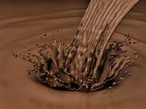 Splash of chocolate Royalty Free Stock Photography