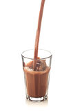 Splash of chocolate in a glass Stock Photos