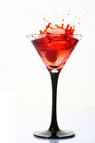 Splash cocktail with dessert cherry stock photo