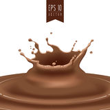 Splash of coffee or chocolate  Royalty Free Stock Photography