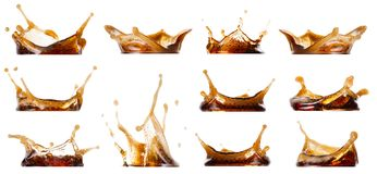 Splash cola collection royalty free stock images