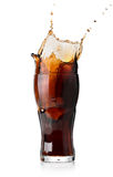 Splash of cola Royalty Free Stock Image