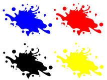 Splash collection. Abstract vector illustration Royalty Free Stock Photography