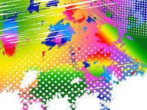 Splash Color Indicates Paint Colors And Painting Stock Image