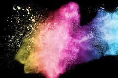 Splash of color powder Stock Images