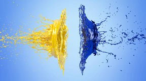Splash - colored paint Royalty Free Stock Image