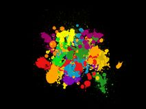Splash colored painted background Royalty Free Stock Photos