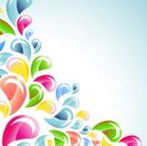 Splash colorful background Stock Photo