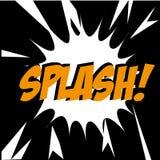Splash comic Stock Image