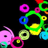Splash design blot stain circle abstract art background grunge paint Royalty Free Stock Photo