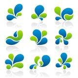 Splash design elements Stock Image