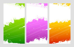 Splash designs set Stock Images