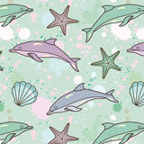 Splash-dolphin-pattern Stock Photo
