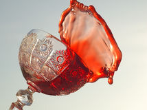 Splash drink. Super splash of red drink Royalty Free Stock Photography