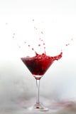 Splash drink with white smoke Royalty Free Stock Photo