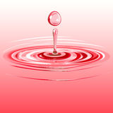 Splash and a drop of liquid. Vector. 5 Royalty Free Stock Photo