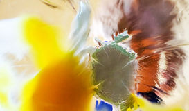 Splash of egg against glass surface, violence concept Royalty Free Stock Photos
