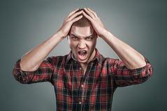 Splash of emotions men Stock Photo